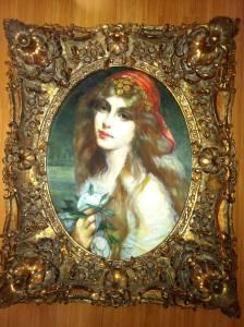 Three Very Old Oil Paintings In Ornate Gold Frames