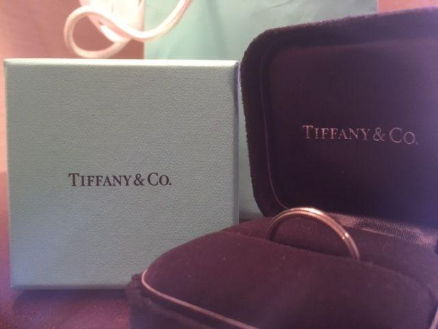 Tiffany and Co.Platinum 3MM Milgrain Band Mens Wedding Band