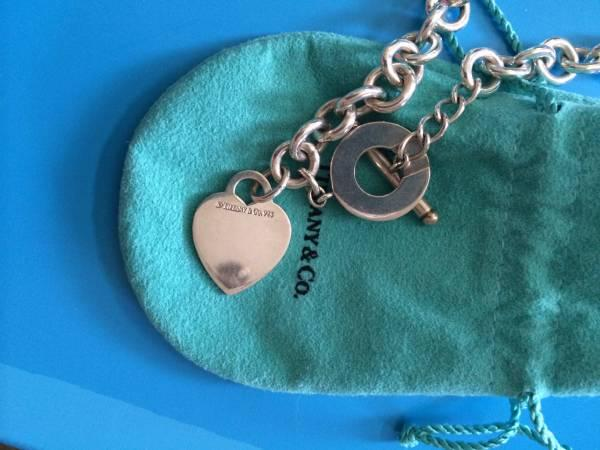 Tiffany Co Authentic Heart Toggle Necklace