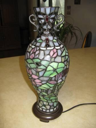 Tiffany Style Accent Lamp - Vase Shaped - $40