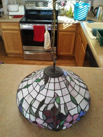 Tiffany style hanging lamp great for kitchens and breakfast nooks for sale in colorado springs - Kitchen nooks for sale ...