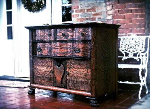 Tiger Oak Serpentine Buffet For Sale In Russellville