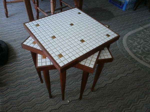 tile top tables retro 1960s - $100 (so beloit) for Sale in ...