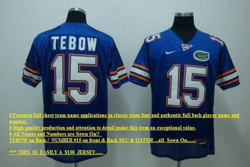 timeless design a7814 eb858 TIM TEBOW #15 SEWN SEC JERSEY NWT~Just in Time 2 Cheer for your Gators