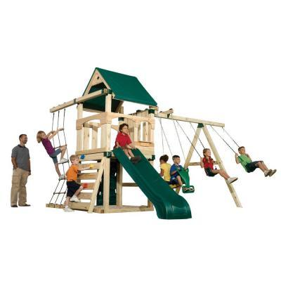 Timber-Bilt Playsets Matterhorn Play Set with Summit