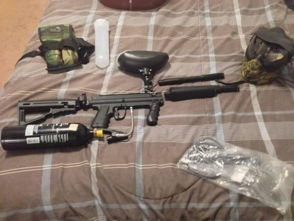 Tippman custom 98 pro paintball gun with all accessory needed to play - $250