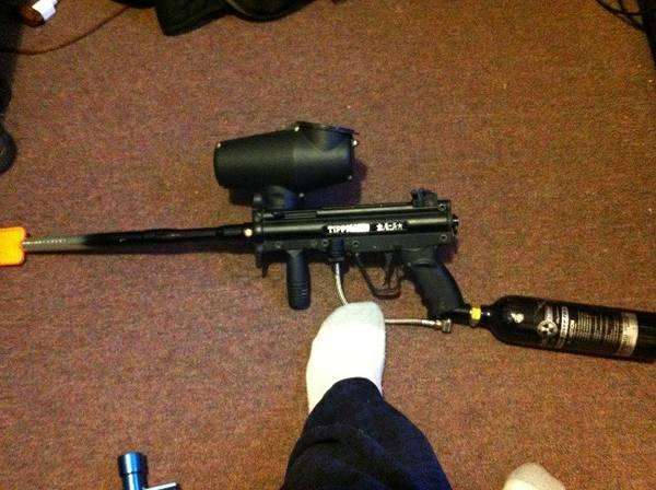 Tippmann A5 and VL Orion Paintball Markers - $100