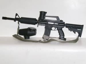 Tippmann A5 paintball AR15 style gun with M4 kit - $180 Great Bend