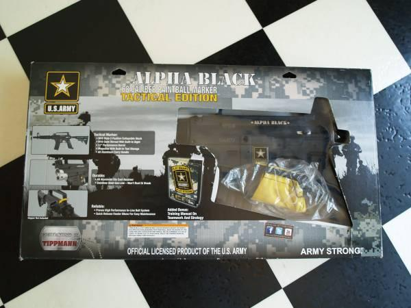 TIPPMANN US ARMY ALPHA BLACK PAINTBALL MARKER WITH MODS