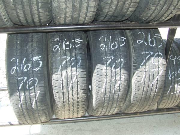 TIRES 265/70/17 GREAT SHAPE - $200