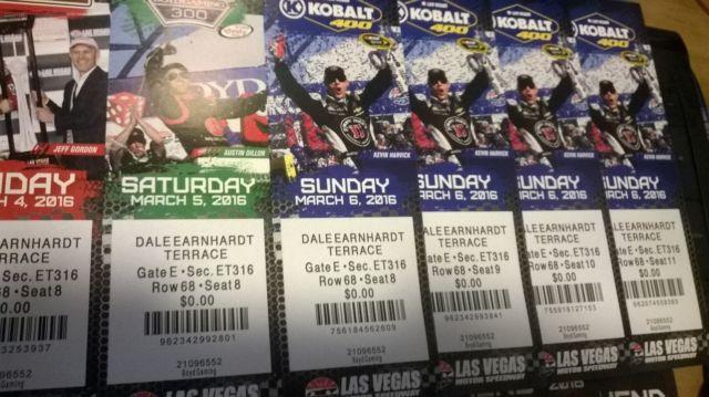 TIX & NEON GARAGE PASSES FOR NASCAR WEEKEND 3/4-3/6