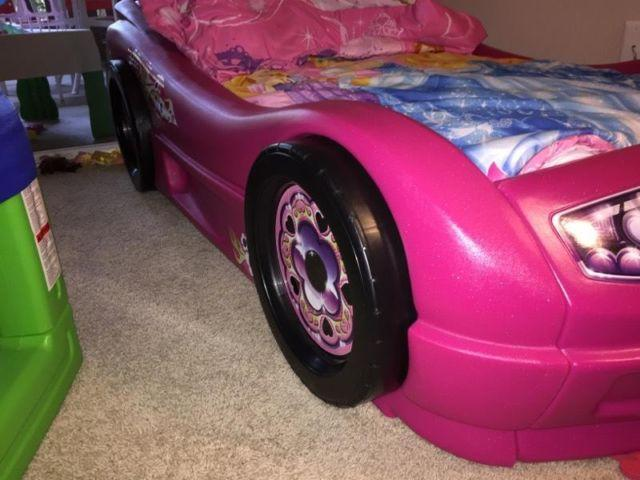Toddler Pink Race Car Bed For Sale In Newport Beach