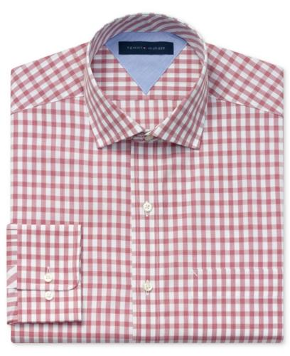 Tommy Hilfiger Dress Shirt Exploded Gingham Long Sleeve