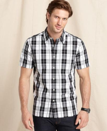 Tommy Hilfiger Shirt, Plaid Button Front Shirt