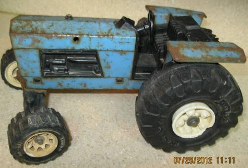 Vintage Tonka Tractors : Tonka metal tractor blue vintage s rare one