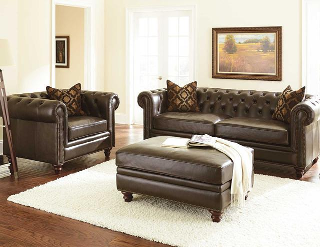 Top Grain Leather Chesterfield Sofa For In Dallas Texas