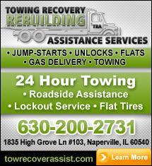 Towing Naperville, Lisle, Aurora, Plainfield,