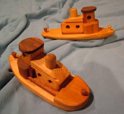 Toy Wooden Boats - $19