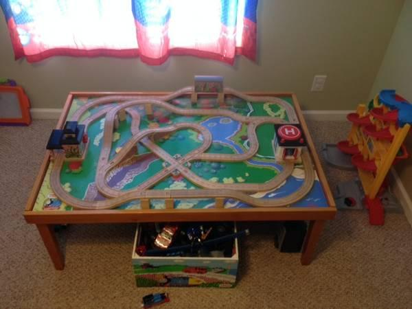 TOYS WOOD THOMAS THE TRAIN TABLE & TRAINS SET - for Sale in Stuart ...