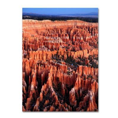 Trademark Fine Art 14 in. x 19 in. Bryce Sunrise Canvas