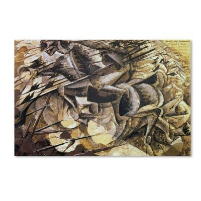 Trademark Fine Art 14 in. x 19 in. The Charge of the