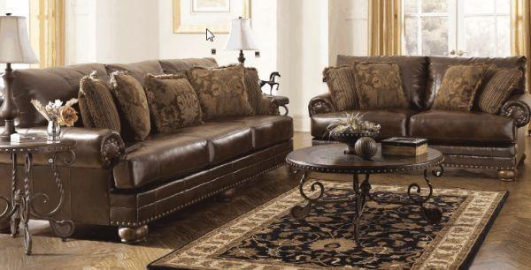 Traditional Leather Sofa Sutherlands Home Design