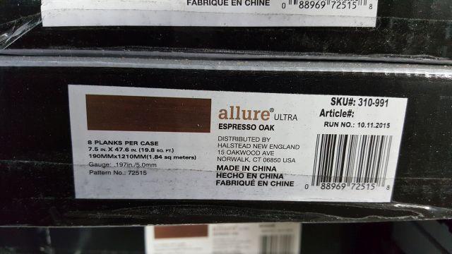 Trafficmaster Allure Ultra Espresso Oak Resilient Vinyl Plank Flooring For Sale In Cleveland