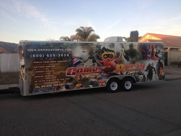 Trailer Con Video Juegos Video Game Trailer Truck