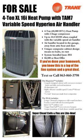 Trane 4 Ton Xl 16i Heat Pump With Variable Speed Hyperion