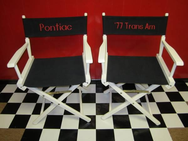 Trans Am Director Chairs - set of 2 - $150