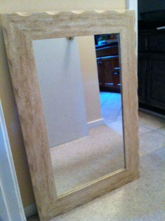 Travertine Framed Mirror Mt Pleasant For Sale In