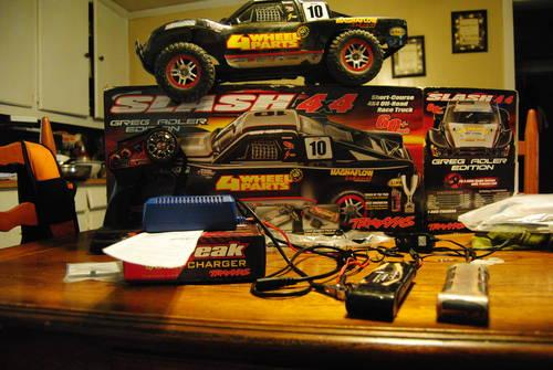 traxxas slash 4x4 model  6808 rollor no motor,esc,servo