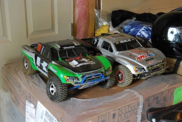 Traxxas slash VLX trucks. One 4x4 and One 2wd - $750