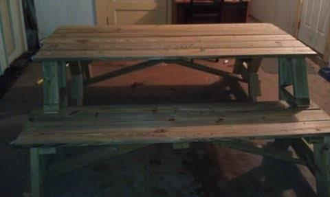Treated Wood 2 In 1 Picnic Table Benches For Sale In San