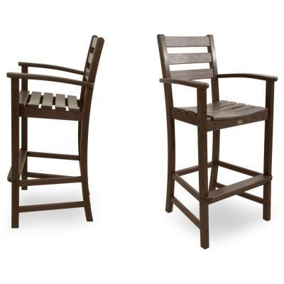 Trex Outdoor Furniture Monterey Bay Vintage Lantern 2-Piece Patio Bar Chair Set