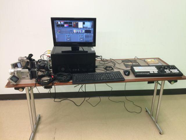 Tricaster Studio TC350 Full Studio Package with 2 Sony TRV900 cameras