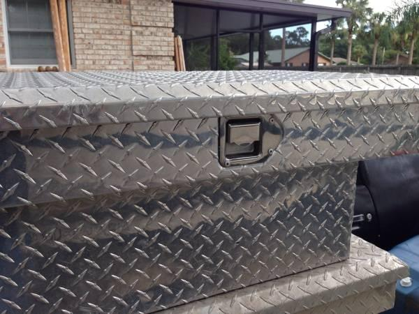 Truck tool box Dimond plate - $110