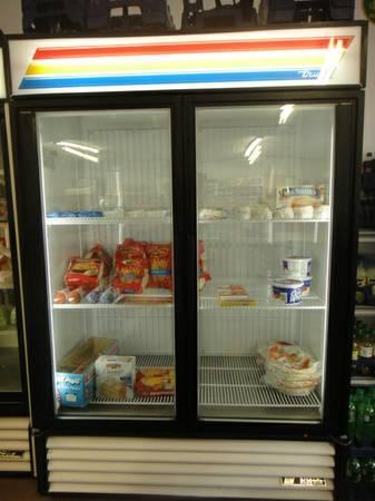 **True - GDM-49F - 49 cu ft Freezer Merchandiser w/ 2 Swing Doors** - $2100
