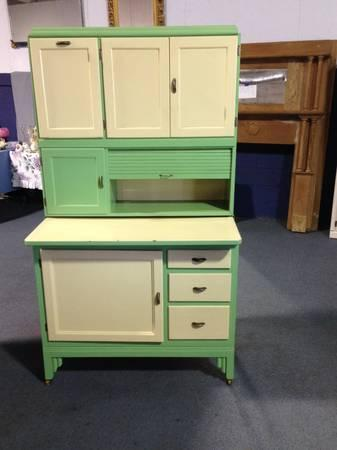 True Vintage Hoosier Cabinet Beautiful Shape - for Sale in ...