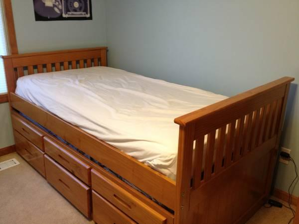Trundle Bed Twin Solid Wood With Storage For Sale In