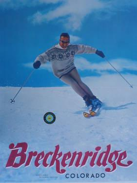 Trygve Berge Skiing Breckenridge Poster, 50th