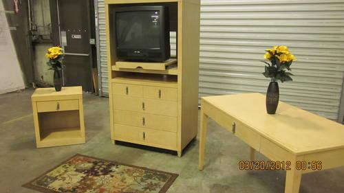 TV, Armoire, Desk and End Table