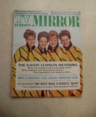 TV Radio Mirror Magazine - 1960's - Lennon Sister