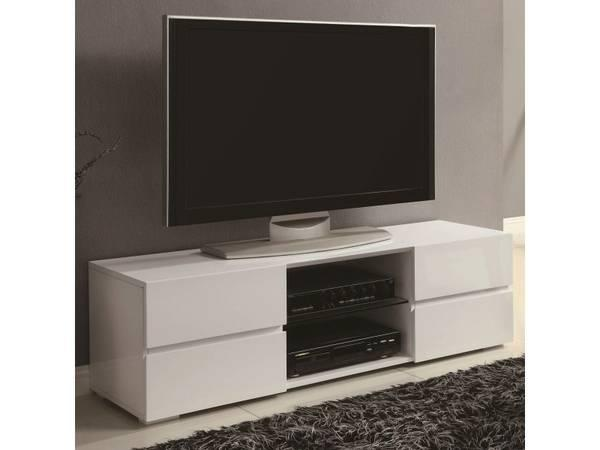 Tv Stand In Black Or White Lacquer Finish For Sale In