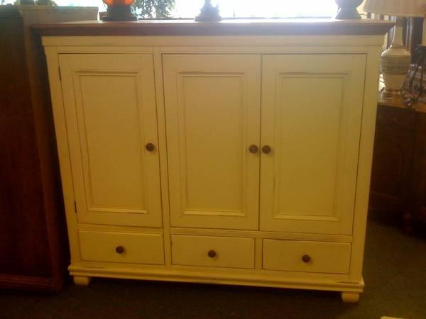 tv armoire shabby chic entertainment center for sale in. Black Bedroom Furniture Sets. Home Design Ideas