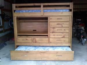 Twin all in one loft bed set with storage decatur il - All in one double bed ...