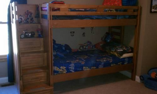 Twin Castle Loft Bed with slidB