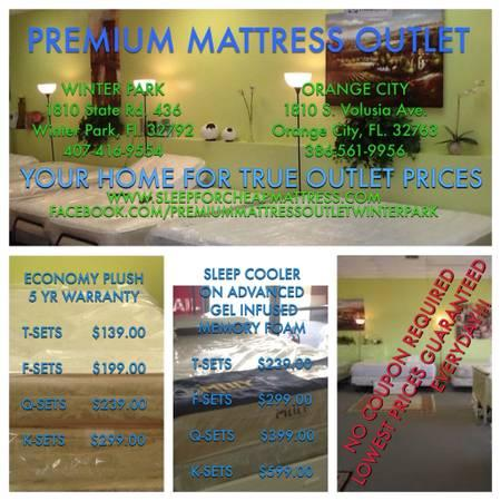 TWIN & FULL MATTRESS SETS - ALL NEW - $99