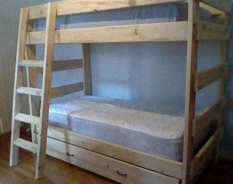Twin Over Full Bunk Bed Solid Wood For Sale In Combine