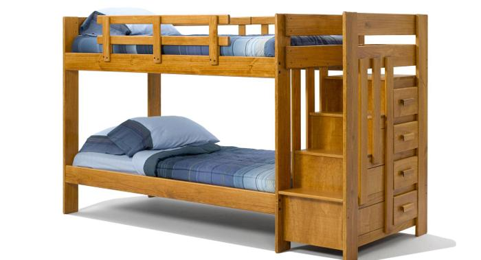 Twin over twin staircase bunk bed zanesville for sale for Furniture zanesville ohio